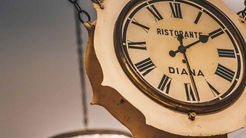 Orologio ristorante Diana
