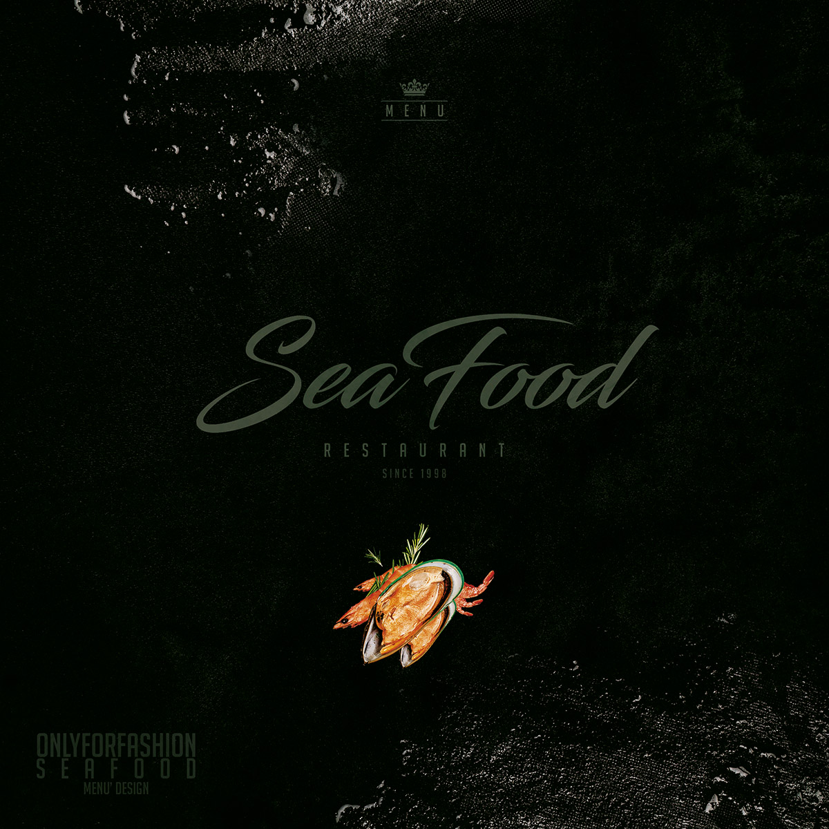 Menu cover Sea