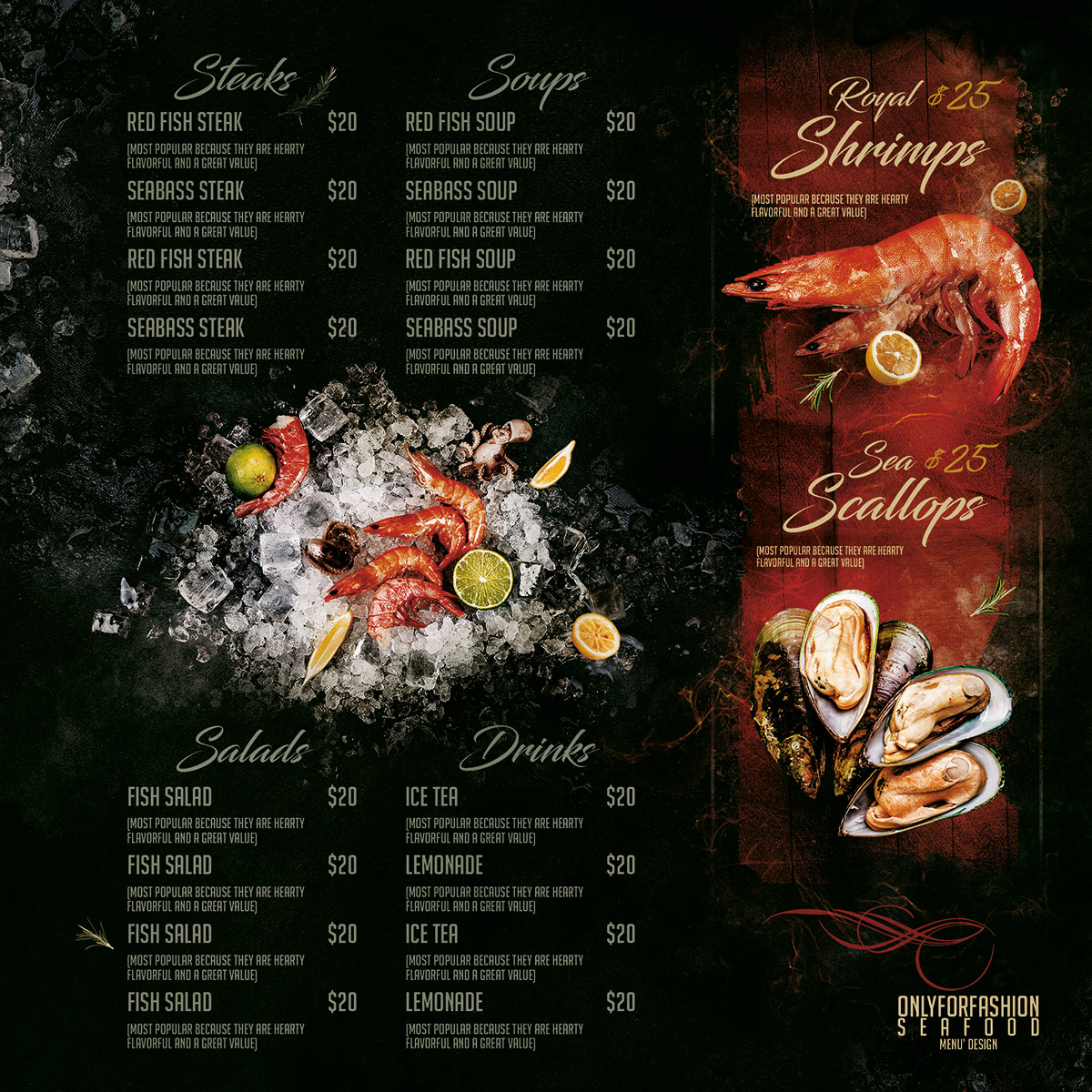Menu Sea interno 2