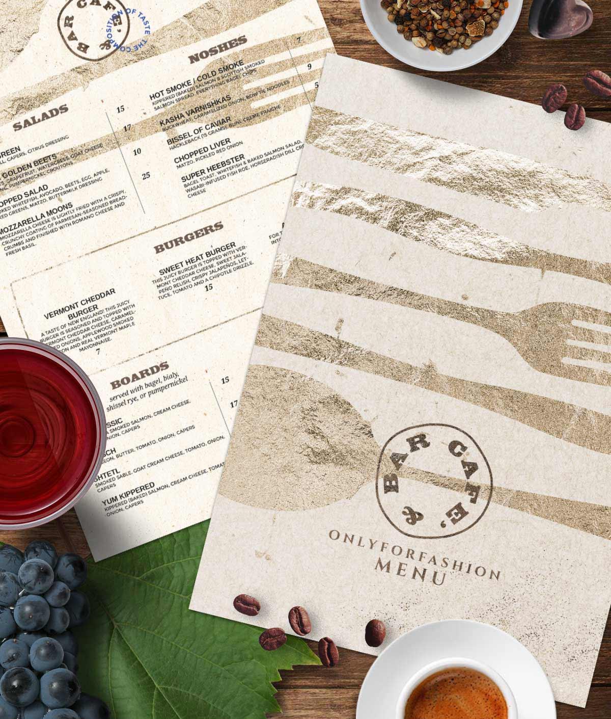 menu classic